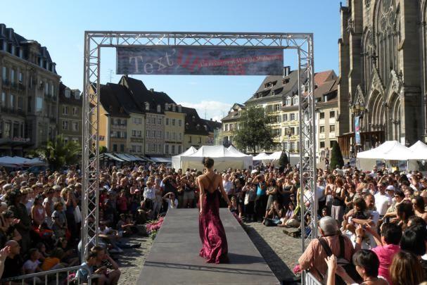 Text'Ill à #Mulhouse #Alsace Marché aux tissus, défilés de mode des créateurs locaux !