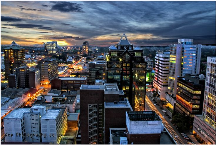 City of Harare Zimbabwe by night - 2013