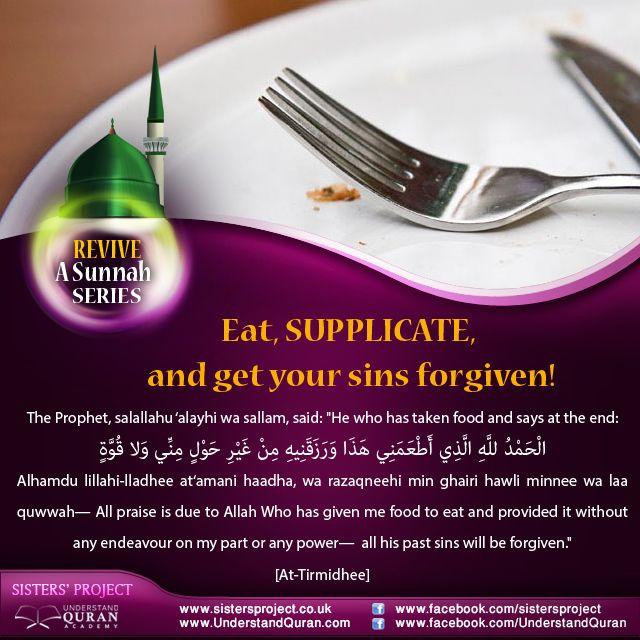 Revive a Sunnah: Eat, Pray, Be Forgiven!