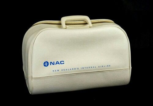 Vintage NAC New Zealand's Internal Airline Bag