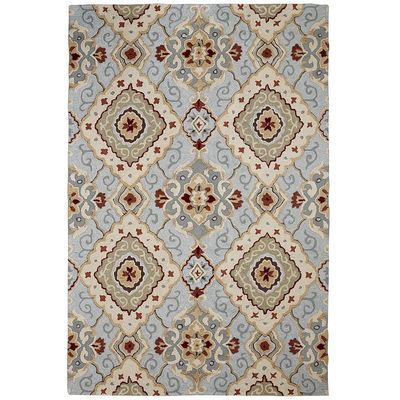 Diamond Scroll Blue 6x9 Rug The Study Living Rooms And