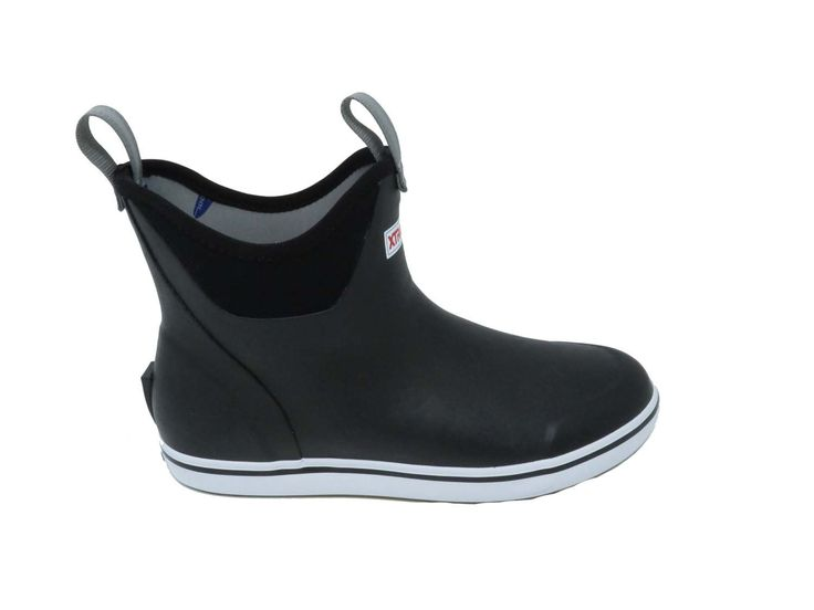 Xtratuf Men's Ankle Deck 6 In. Black Slip-On Size 8 Fishing Boot