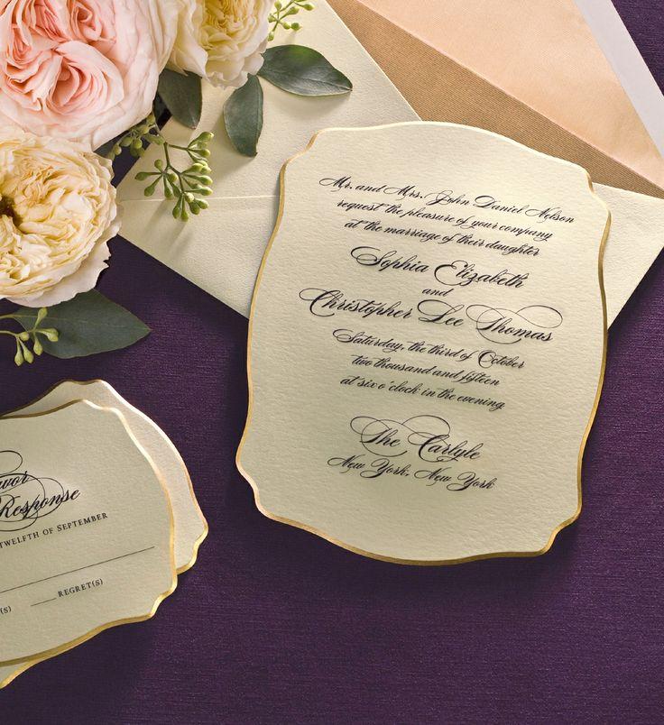 William Arthur Die Cut Wedding Invitation 23