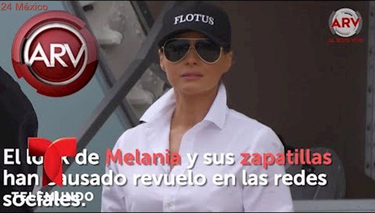 Así llegó vestida Melania Trump a Texas   Al Rojo Vivo   Telemundo