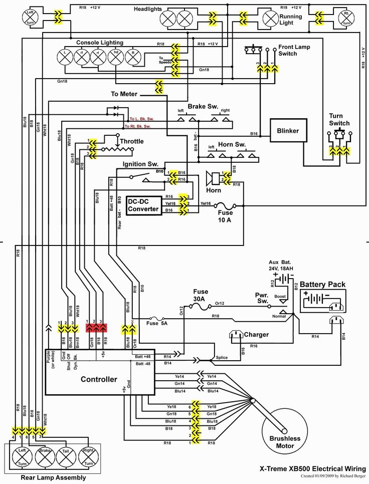 Wiring Diagram For Electric Scooter, http