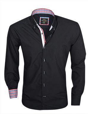Arya Boy Italiaans overhemd Zwart