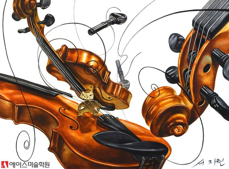2017 성신여대 산업디자인 수시 기초디자인 바이올린 리듬과 율동 연구작