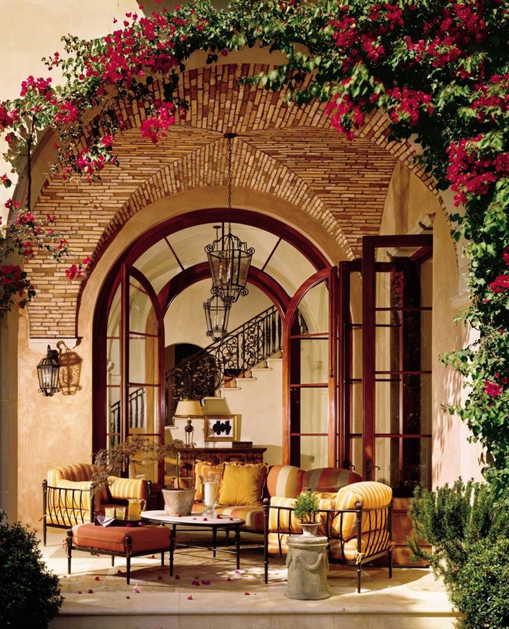 A Cross Or Groin Vault Highlights The Patio Area Of This Old World Tuscan  Style Home