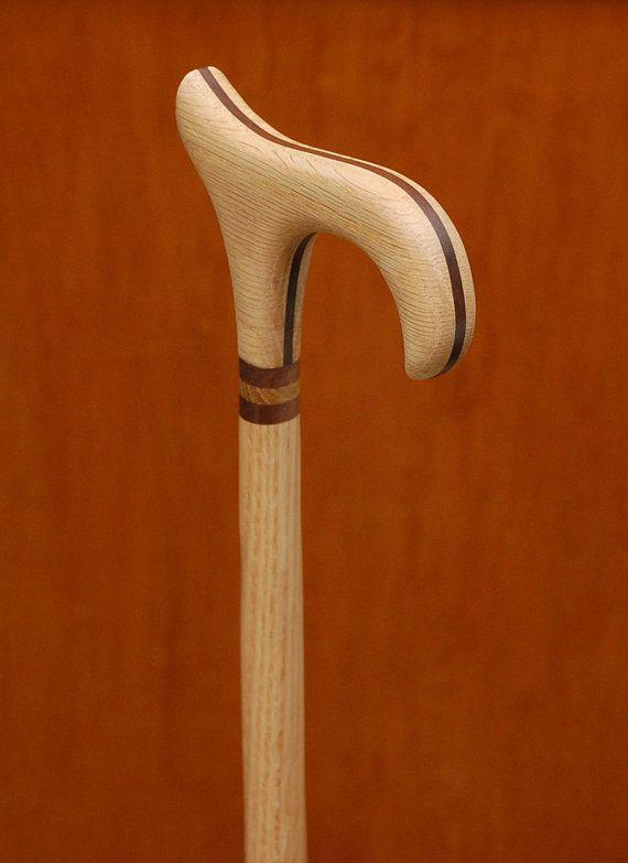 Handcrafted Oak Wooden Walking Cane Derby by WalnutHillCrafts