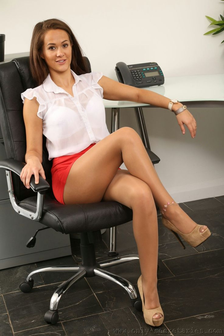 Busty women in the office skinny