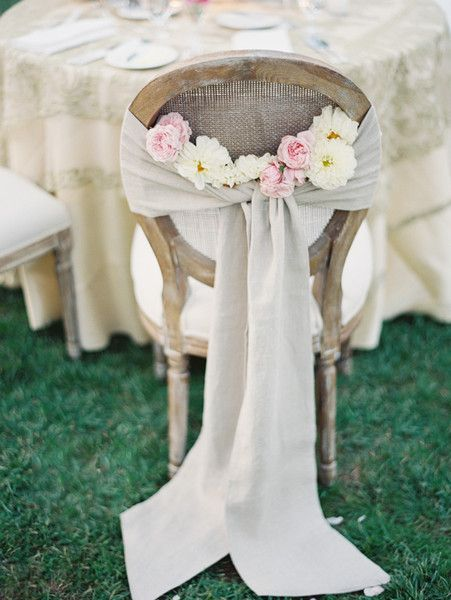 Obsessed with this simple and #bohemian chair decor @xoxobride