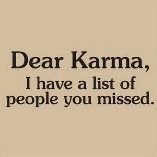 Karma thx ur my entertainment