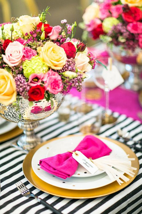 wedding table setting... beautiful and colorful!