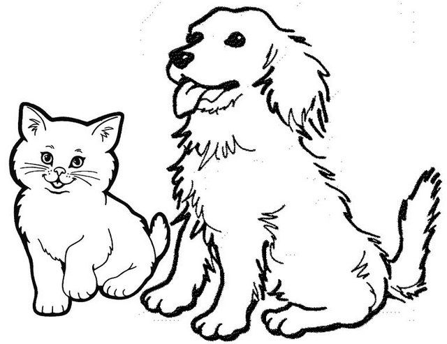 Eight Adorable Dog And Cat Coloring Pages For Pet Lovers Coloring Pages Cute Cats And Dogs Cat Coloring Page Pretty Dogs