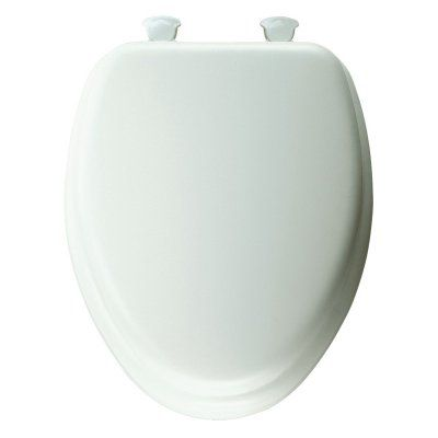 Mayfair 113 Elongated Padded White Toilet Seat - B113EC000, Durable