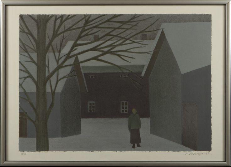 Veikko Vionoja, 1984, litografia, 43x60 cm, edition 53/100 - Hagelstam A129