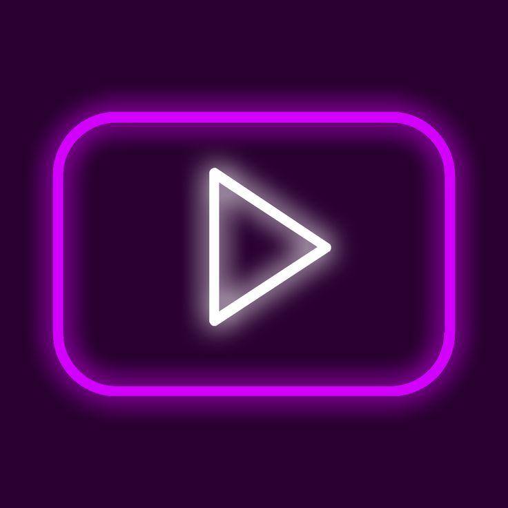 60 purple neon iphone ios 14 app icons neon app icons