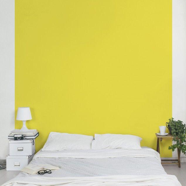 #Vliestapete - Colour Lemon Yellow - Uni-Tapete Quadrat #uni #Tapete #einfarbige #tapeten #gelb