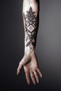 geometric tattoo men