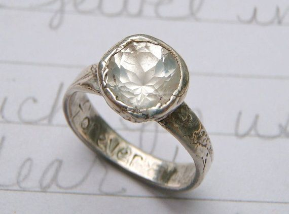 : Pretty Rings, Bands Width, Unique Wedding Rings, Herkim Diamonds Rings, Future Rings, Beautiful Stones, Silver Engagement Rings, Recycled Silver, Vintage Jewelry