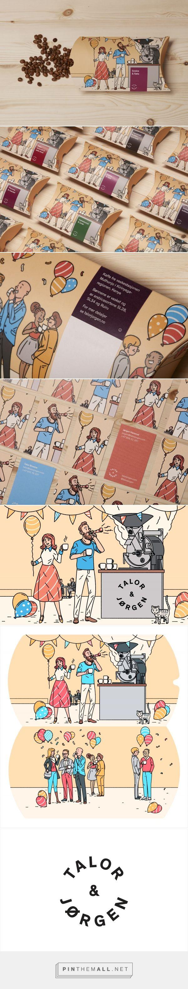 New Packaging for Talor&Jørgen by Bielke & Yang / Design by Bielke & Yang /  Illustration by Janne Iivonen.