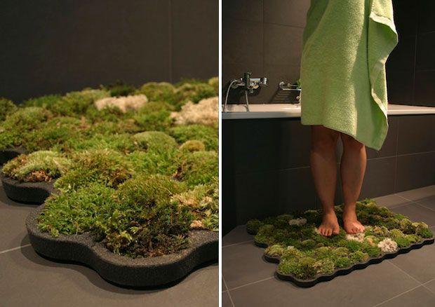Moss Carpet: alfombra de musgo para el baño.  #Sustentabilidad