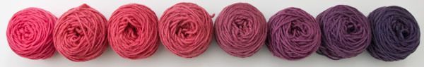 2012-07-26 Overdyeing hot  pink needlepoint yarn with acid dyes