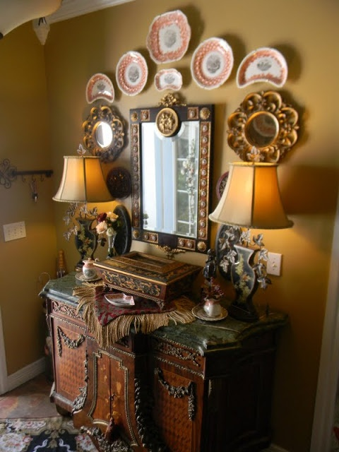 Custom Wall Scape Design Services Decorate With Transferware Plates And Platters As Art