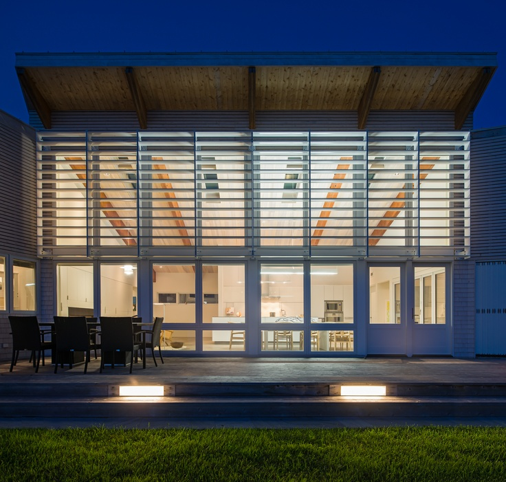 Contemporary home in Eastern Canada featuring Hurd Windows