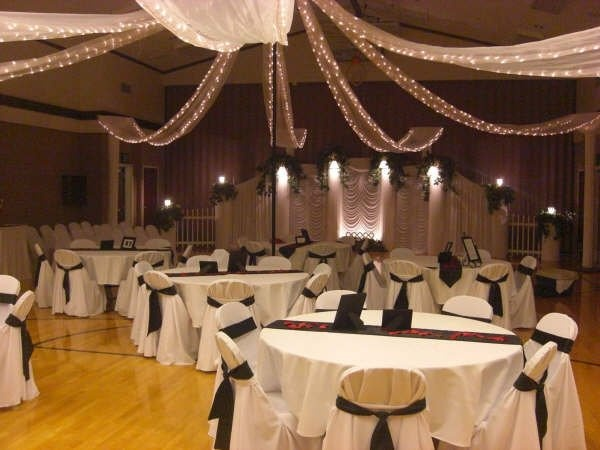 Ceiling decor for Decorating a wedding reception