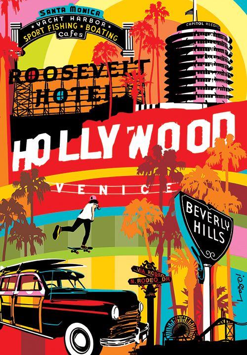 LA | Los Angeles | California  Lobo | Pop Art www.lobopopart.com  #PopArt #LA #LosAngeles #Art