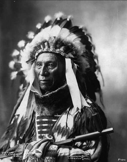 "thebigkelu: "" Conquering Bear - Oglala / Sioux (Lakota) - 1898 - """