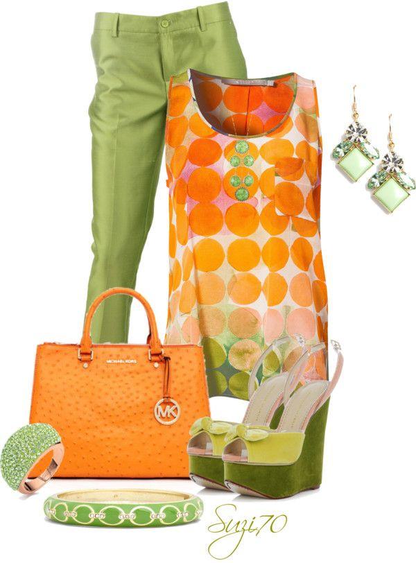 """Farb-und Stilberatung mit www.farben-reich.com - """"Honeydew  Tangerine"""" by suzi70 on Polyvore"""