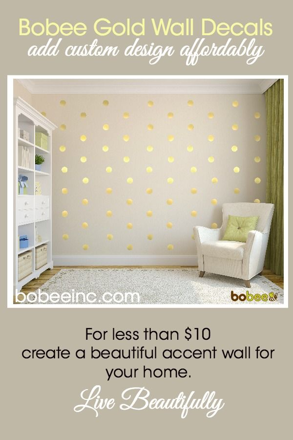 Bobee gold wall decals are an easy and affordable way to add home decorations. For less than $10, you can create an accent wall in no time! Make a splash or a linear design, either way the customization and creative DIY look is easy. Visit https://www.bobeeinc.com/products/bobee-polka-dot-confetti-vinyl-wall-decals-gold-36-count to shop and make your home a beautiful home.