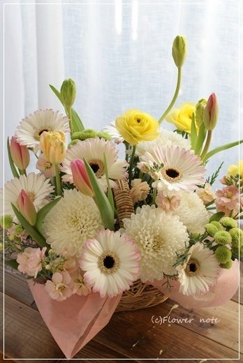 【今日の贈花】いつもそばにいるよ♪|Flower note の 花日記 (横浜・上大岡 アレンジメント教室)