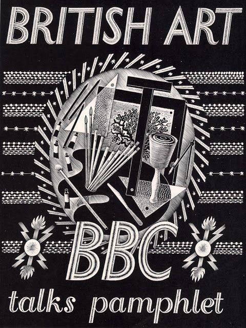 "Eric Ravilious design for ""BBC talks"" pamphlet, 1934"