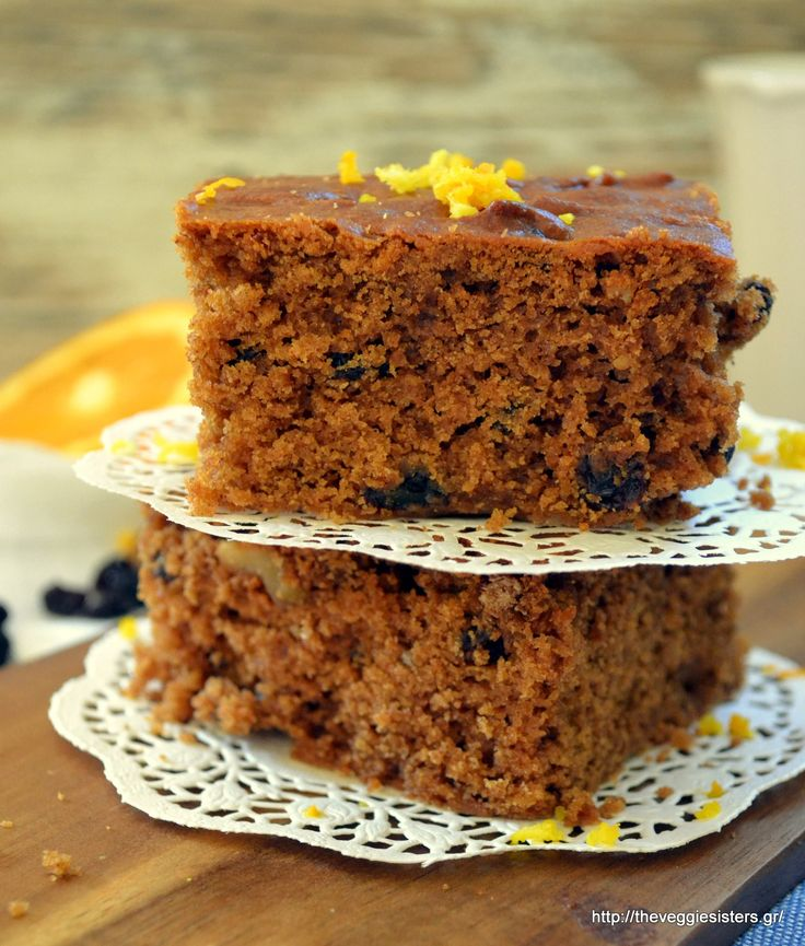 Greek Melachrino (traditional grape molasses cake)