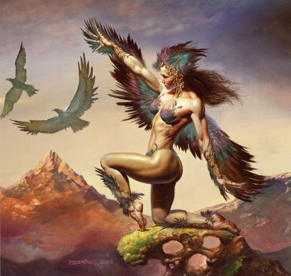 Birdwoman by Boris Vallejo