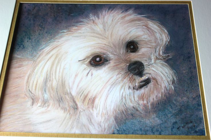 Pastel I did of my dog Pepper.