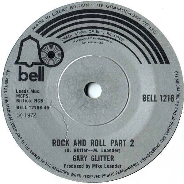 Rock and Roll Part 2, Garry Glitter, Bell, 1972