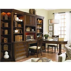 Hooker Furniture Cherry Creek  Wall Unit with Partner Desk