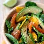 Salade fraîcheur mangue, saumon et avocat