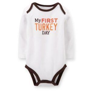 Thanksgiving Baby Outfits - Cute onesies, dresses for girls and outfits for boys.