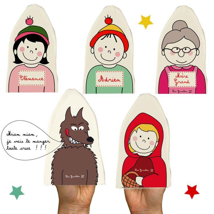 Kit de marionnettes Les Griottes, à personnaliser des prénoms souhaités !