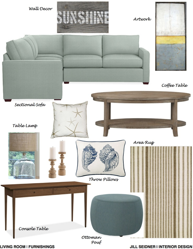 Stanwood WA Online Design Project Living Room Furnishings Concept Board