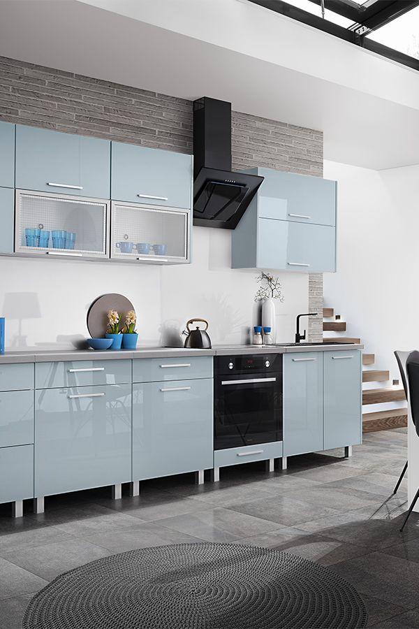 Leroymerlin Leroymerlinpolska Dlabohaterowdomu Domoweinspiracje Kuchnia Nowoczesnakuchnia Niebieskakuchnia Kitchen M Home Decor Kitchen Cabinets Decor