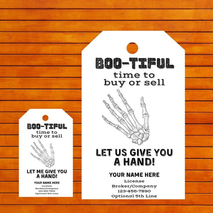 Halloween Give You Hand Real Estate Printable Trick Or Treat Pop