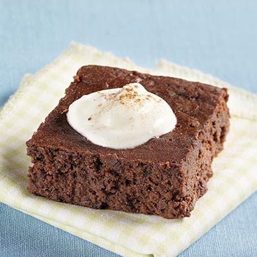 Mmm...black bean fudge cakes from Clean Eating magazine