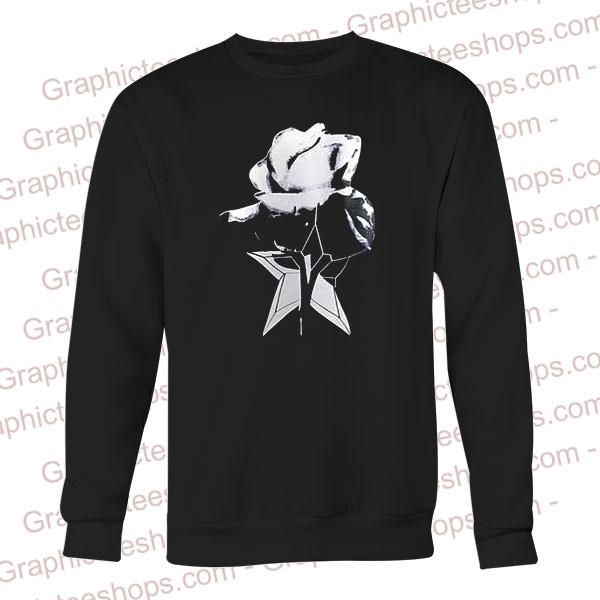 black and white flower sweatshirt