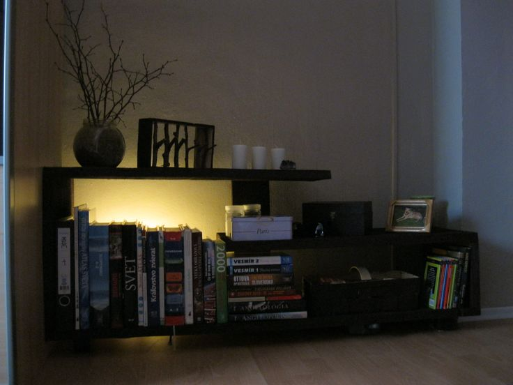 Handmade Wood Modern Bookshelf #handmade #furniture #wood #bedroom